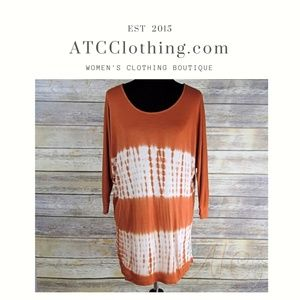 Staccato Orange Tie Dye Tunic Top